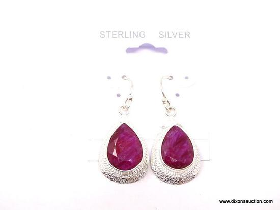 AFRICAN RED RUBY EARRINGS; GORGEOUS NEW DETAILED AFRICAN RED RUBY EARRINGS. RETAIL PRICE $110.00.