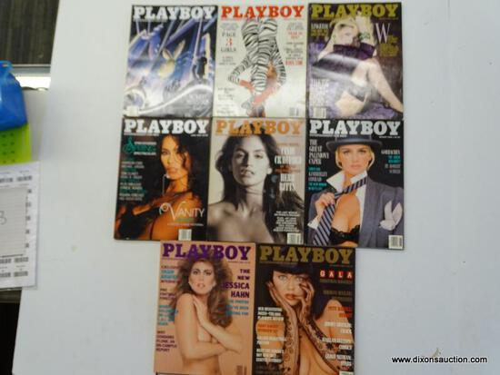 1988 PLAYBOY MAGAZINES; 8 PIECE LOT OF 1988 PLAYBOY MAGAZINES TO INCLUDE EVERY MONTH BUT MAY, JUNE,
