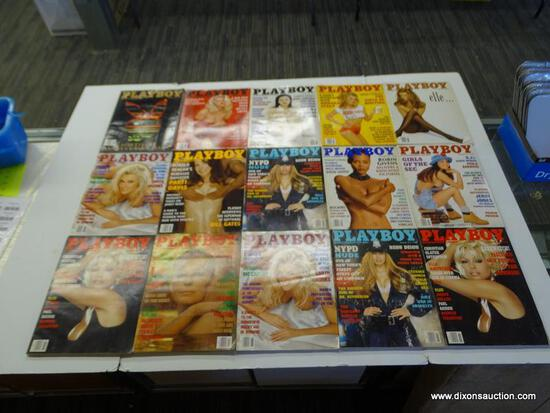 1994 PLAYBOY MAGAZINES; ALL 12 EDITIONS FROM THE 1994 PLAYBOY COLLECTION. COMES WITH AN EXTRA COPY