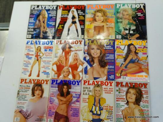 1998 PLAYBOY MAGAZINES; ALL 12 EDITIONS FROM THE 1998 PLAYBOY COLLECTION.