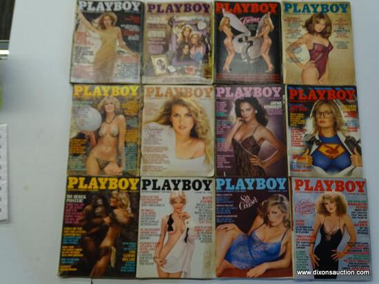 1981 PLAYBOY MAGAZINES; ALL 12 EDITIONS FROM THE 1981 PLAYBOY COLLECTION.