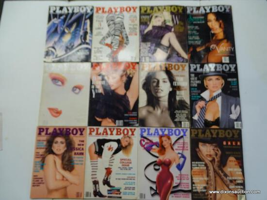 1988 PLAYBOY MAGAZINES; ALL 12 EDITIONS FROM THE 1988 PLAYBOY COLLECTION.