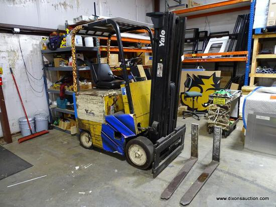 (WAREHOUSE) YALE FORKLIFT. HAS 4,179 HOURS ON IT. MODEL #ERC040ABN36SE083. SERIAL #N491306 . COMES