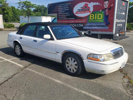 2003 MERCURY GRAND MARQUIS 4 DOOR SEDAN.