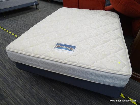 SERTA PERFECT SLEEPER, CRESCENT MOON COLLECTION, ISLAND SHIMMER, QUEEN SIZE MATTRESS WITH BOX SPRING