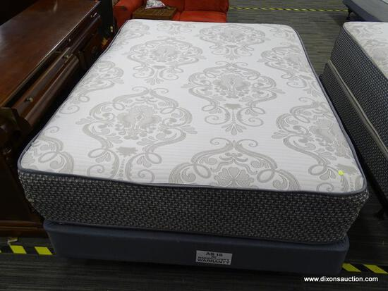 ORTHO DELIGHT QUEEN SIZE MATTRESS WITH BOX SPRING AND METAL BED FRAME.