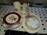 (KITCHEN) LOT OF ASSOTED CHINA; 16 PIECE LOT OF ASSORTED CHINA TO INCLUDE 4 BREAD AND BUTTER PLATES