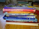 (FMR) BOOK LOT; LOT OF BOOKS ON ANTIQUE GLASSWARE TO INCLUDE- DEPRESSION GLASS, CANDLEWICK,