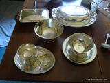 (DR) SILVERPLATE LOT; LOT INCLUDES 2 REVERE BOWLS- 6 IN. AND 3.5 IN DIA. BOWLS, COVERED SERVING