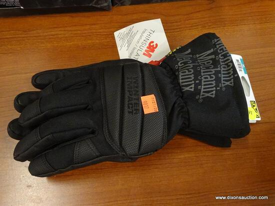 (RWALL) MECHANIX WEAR X-LARGE, BLACK POLYESTER, MEN'S INSULATED WINTER GLOVES. RETAILS FOR $29.98.