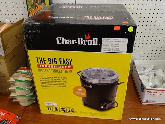 (RWALL) CHAR-BROIL OIL-LESS TURKEY FRYER; THE BIG EASY TRU-INFRARED OIL-LESS TURKEY FRYER. EASILY