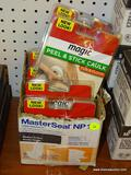 (RWALL) MAGIC PEEL & STICK CAULK; 6 PIECE LOT TO INCLUDE 5 PACKS OF ALMOND COLORED TUB & WALL WIDE