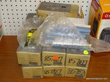 (RWALL) 12 BOX LOT OF ALLEN + ROTH CERAMIC HALF ROUND TILE WITH A CHARCOAL COLOR. MEASURES 1.2