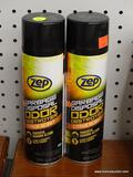 (RWALL) LOT OF [2] ZEP GARBAGE DISPOSAL ODOR DESTROYER, 19OZ SPRAY CANS - CITRUS SCENT.