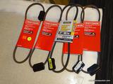 (BWALL) LOT OF DRIVE BELTS; 5 PIECE LOT OF DRIVE BELTS TO INCLUDE 4 CRAFTSMAN 21
