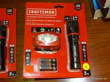 (RWALL) CRAFTSMAN LED FOCUSTING FLASHLIGHT/HEADLAMP SET; 2 PIECE SET TO INCLUDE A 280 LUMENS
