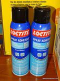 (R1) PAIR OF LOCTITE SPRAY ADHESIVE, GENERAL PERFORMANCE, LIGHTWEIGHT BONDING, 13.5 OZ SPRAY CANS.