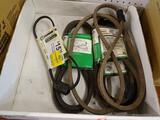 (RWALL) LOT OF DECK DRIVE BELTS; 5 PIECE LOT TO INCLUDE 4 GENUINE FACTORY PARTS 38