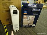 (R2) DELONGHI RADIANT HEATER; 1500 WATT, OIL-FILLED, ELECTRIC TOWER RADIANT SPACE HEATER. COMES IN