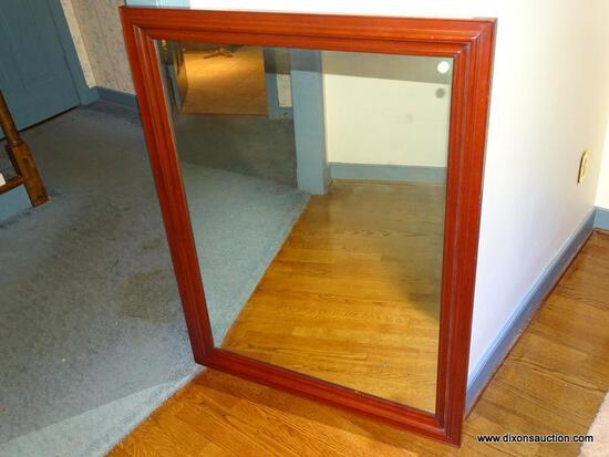(LR) MIRROR; SOLID CHERRY MIRROR- 45.5 IN X 35 IN (MATCHES 24,26, 276 AND 277)