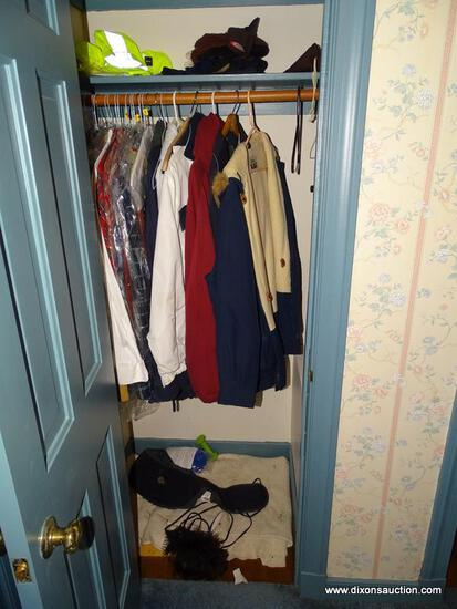 (HALL) CLOSET LOT; LOT INCLUDES MEN'S CLOTHING SIZE XL- INCLUDES- SHIRTS BY GANT, RALPH LAUREN,