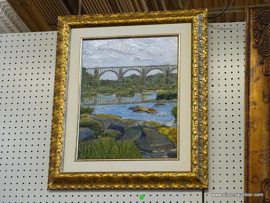 """""""A DAY ON THE JAMES"""" FRAMED OIL PAINTING BY ROBERT SESCO; THIS IS ANOTHER IN MY SERIES OF PAINTINGS"""