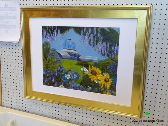 """""""LEWIS GINTER BOTANICAL GARDEN CONSERVATORY"""" FRAMED OIL PAINTING BY ROBERT SESCO; THE LEWIS GINTER"""