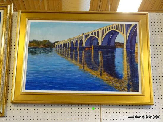 """""""CSX A-LINE RAILWAY BRIDGE"""" FRAMED OIL PAINTING BY ROBERT SESCO; THIS IS ANOTHER IN MY SERIES OF"""