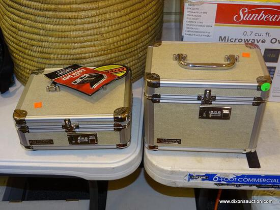 PAIR OF VAULTZ LOCK BOXES; 2 PIECE LOT TO INCLUDE A TALLER LOCK BOX AND A SMALLER CASH LOCK BOX.