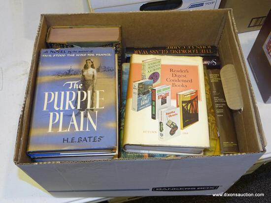 """BOX LOT OF ASSORTED BOOKS; INCLUDES """"STORIES TO REMEMBER"""" BY THOMAS B COSTAIN AND JOHN BEECROFT,"""