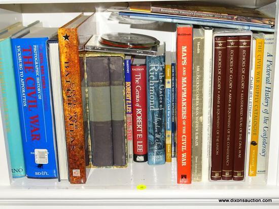 (LIBRARY) SHELF LOT OF CIVIL WAR BOOKS; LOT INCLUDES- CIVIL WAR- VICKSBURG TO APPOMATTOX, 3 VOLUMES