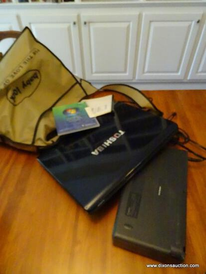 (LIBRARY) LAPTOP AND PRINTER; TOSHIBA SATELLITE A215-S4807 LAPTOP WITH WINDOWS VISTA, BUILT IN