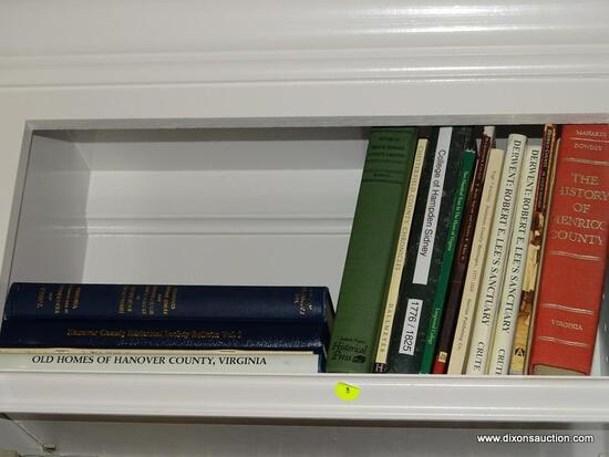 (LIBRARY) SHELF LOT MISCELL.COUNTY HISTORY BOOKS; HISTORY OF HENRICO CO., HOMES OF HANOVER COUNTY,