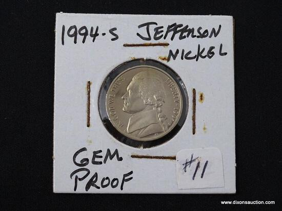 1994-S GEM PROOF JEFFERSON NICKEL.