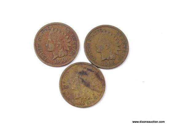 3-1909 INDIAN CENTS