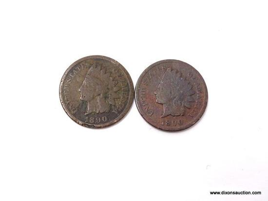 2-1890 INDIAN CENTS.