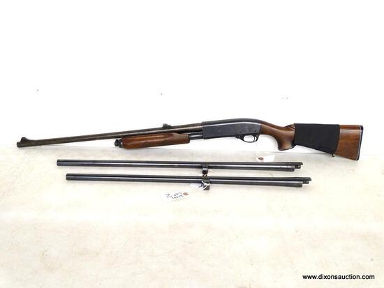 REMINGTON 12 GAUGE PUMP ACTION MODEL 870 WINGMASTER. SERIAL # 402887V. STOCK HAS BEEN REPAIRED.
