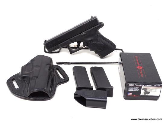 GLOCK G23 MID-SIZE .40 S&W. 4.02 IN BARREL LENGTH. SERIAL #PNG794. COMES WITH CRIMSON TRACE LG-417