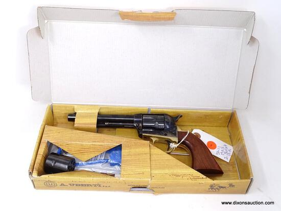 "A. UBERTI 1873 STALLION .22LR REPRODUCTION. 5.5"" BARREL WITH BRASS FRAME. SERIAL #U72376. COMES IN"