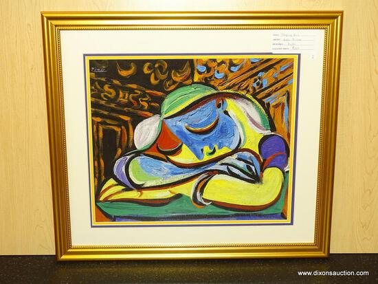 "SLEEPING GIRL GICLEE BY PABLO PICASSO. MEASURES 22 3/4"" X 25 1/2""."