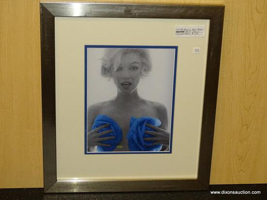 "MARILYN MONROE BLUE ROSES BY BERT STERN. MEASURES 15 3/4"" X 18""."