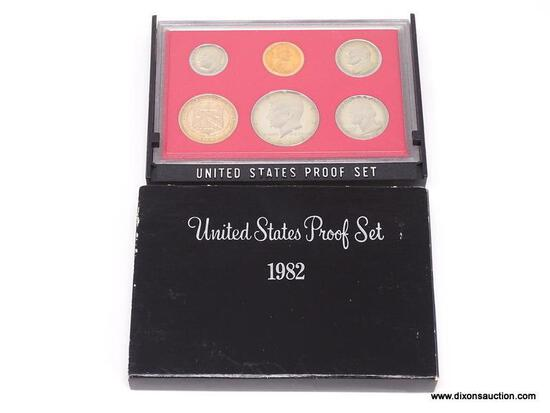 1982-S UNITED STATES PROOF SET. COINS ARE IN A HARD PLASTIC PROTECTIVE CASE. COMES WITH ANOTHER