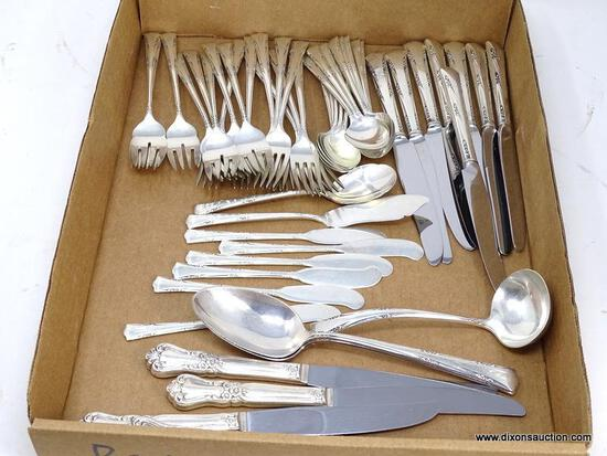 """48 PC. GORHAM STERLING SILVER """"GREEN BRIER"""" PATTERN FLATWARE SET. INCLUDES (13) SPOONS 5-3/4"""", (8)"""