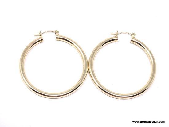 NATIVE AMERICAN DESIGNER, JWK (JOHN W KESSLER) VERY NICE, QUALITY GOLD FILLED HOOP EARRINGS,