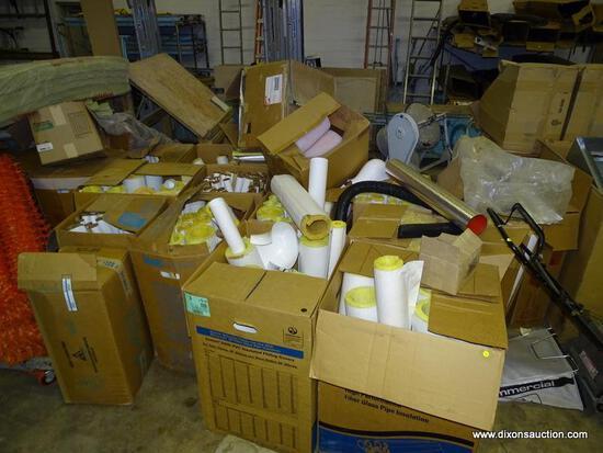 (16) BOX LOT OF ASSORTED MICRO-LOK PVC FIBERGLASS INSULATED PIPE COVERS.