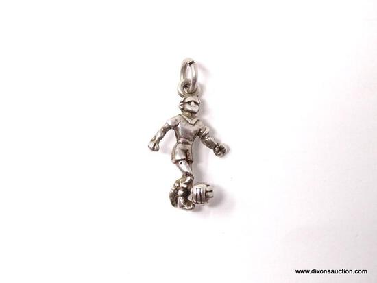 .925 STERLING SILVER LADIES SOCCER CHARM
