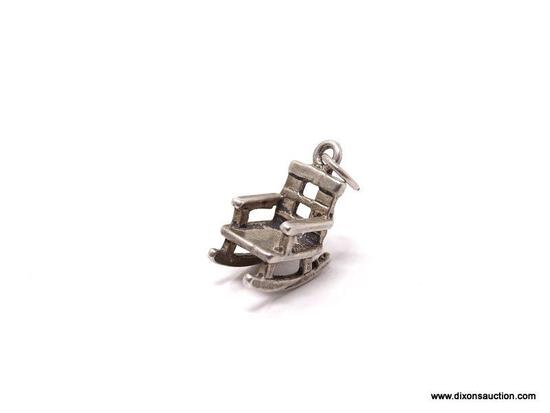 .925 STERLING SILVER LADIES ROCKING CHAIR CHARM