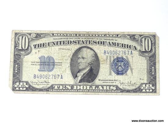 1934D TEN DOLLAR SILVER CERTIFICATE