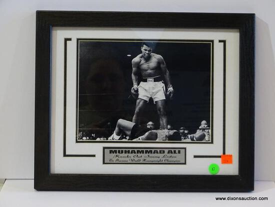 MUHAMMAD ALI PHOTOGRAPH; THIS PHOTO IS OF THE MOMENT MUHAMMAD ALI KNOCKS OUT SONNY LISTON TO BECOME