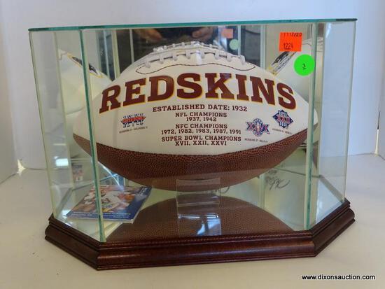 WASHINGTON REDSKINS SIGNED SUPERBOWL PROMOTIONAL FOOTBALL; SIGNED BY ART MONK (NFL HALL OF FAMER).